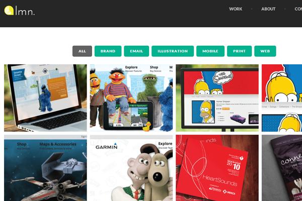 laura noll website portfolio design layout