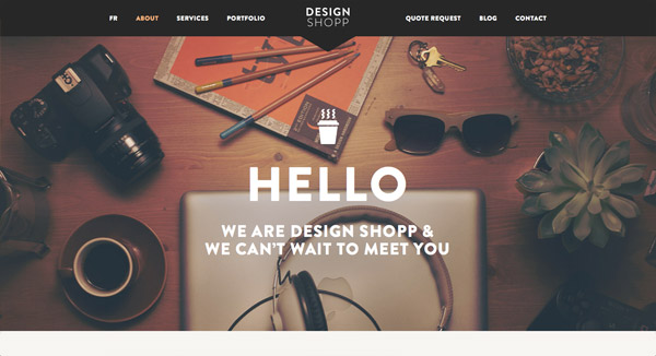 "Web Design Trend Showcase: ""Tools of the Trade"""
