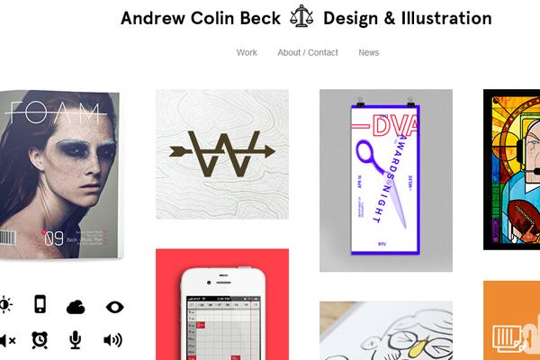 andrew colin beck designer portfolio website