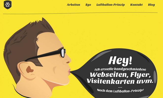 web print design jan mense yellow portfolio layout