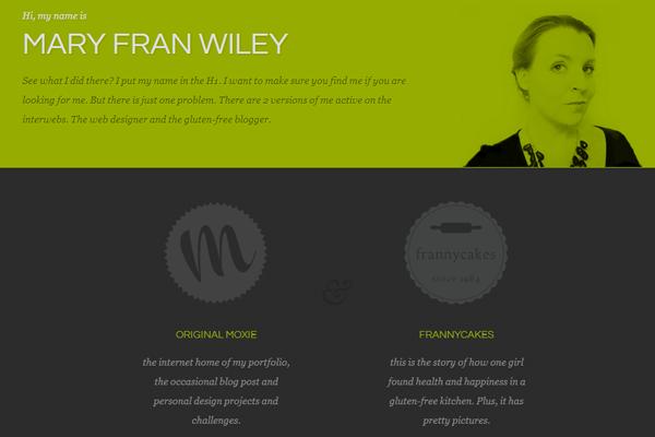 mary fran wiley portfolio website