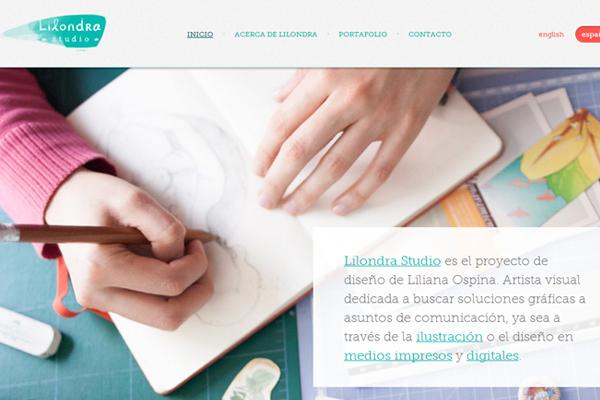 ospina portfolio website layout studio