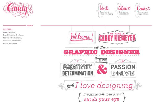 candy niemeyer website portfolio pink design