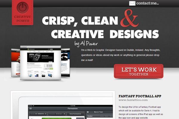 Alan Power website portfolio design