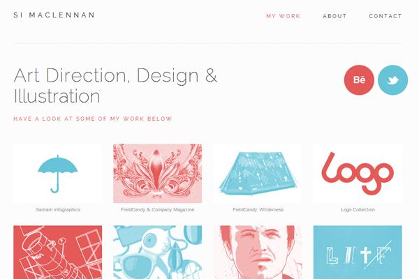 graphic designer portfolio website layout