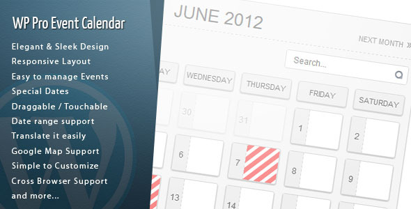 WordPress Pro Event Calendar