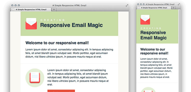 Simple Responsive HTML Email free predesigned