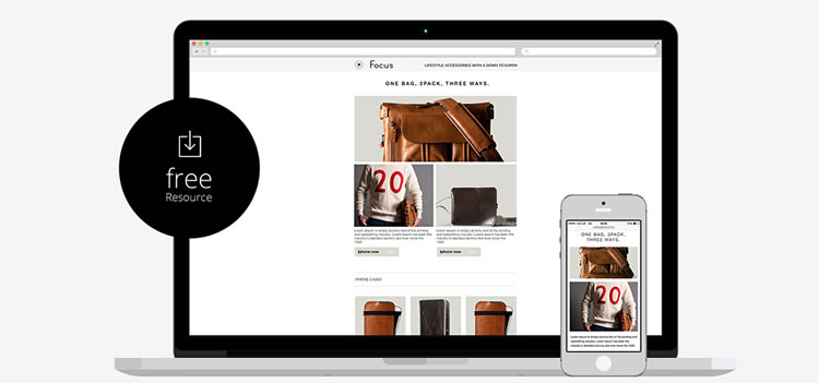 Responsive Email Template by Marco Lopes free predesigned
