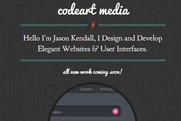 codeart studio website portfolio jason kendall