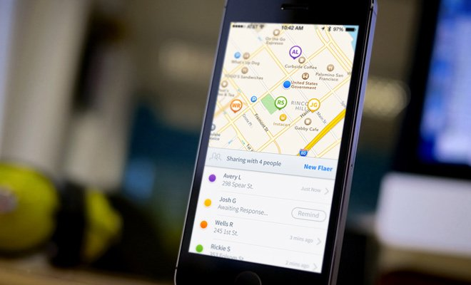 flaer iphone app ui maps