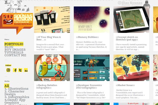 ilias sounas website designer portfolio