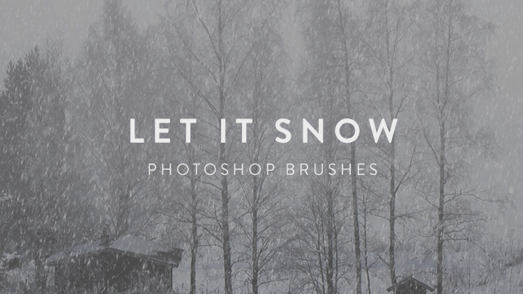 Let It Snow Photoshop Brushes