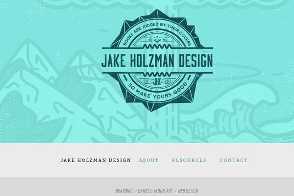 jake holzman portfolio designer website