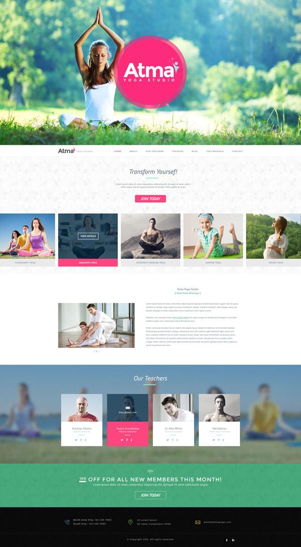 Yoga Training Website Design by Madan Patil