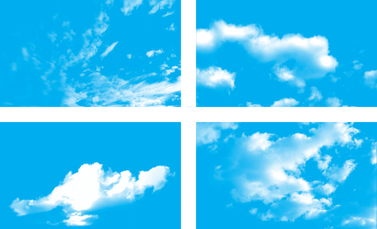High Resolution Cloud Photoshop Brushes