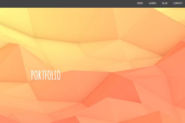 orange portfolio layout thomas pomarelle
