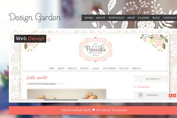 sabrina design garden portfolio website