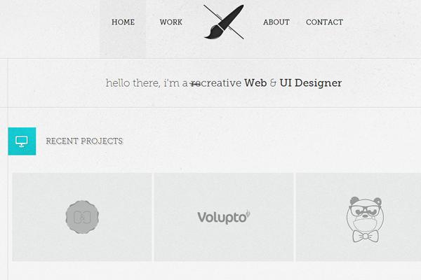 france designer portfolio website inspiration faure