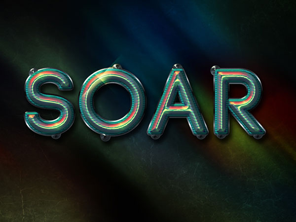 Colorful Futuristic Text Effect