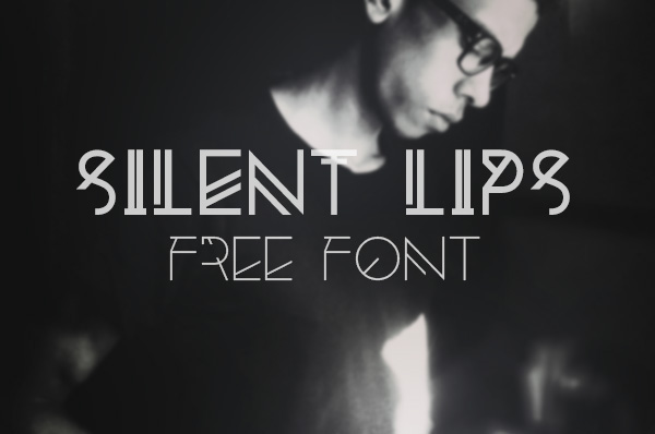 1.Free Font Of The Day  Silent Lips