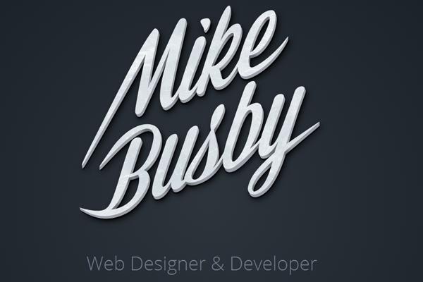 designer developer portfolio layout mike busby
