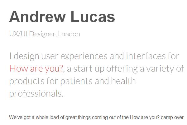 andrew lucas portfolio website andy layout