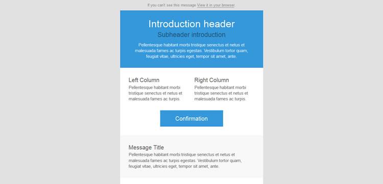 responsive email template free barebones