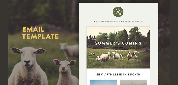 Green Village HTML Template responsive email free predesigned