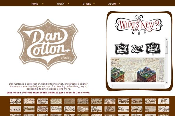 graphics designer typography dan cotton portfolio