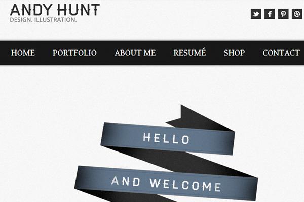 andy hunt website layout inspiration portfolio