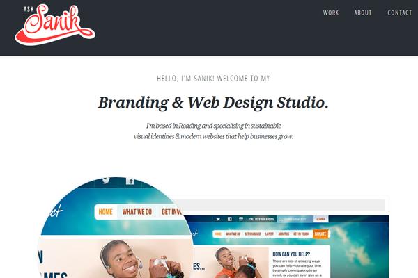 sasha lantukh website portfolio design