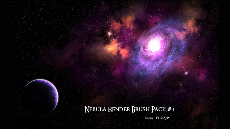 High Res Nebula Galaxies & Star Brushes