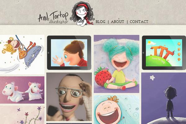 anil tortop illustrator designer website