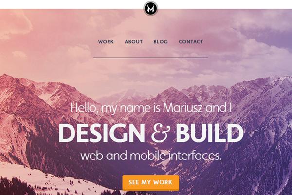 small portfolio website layout design