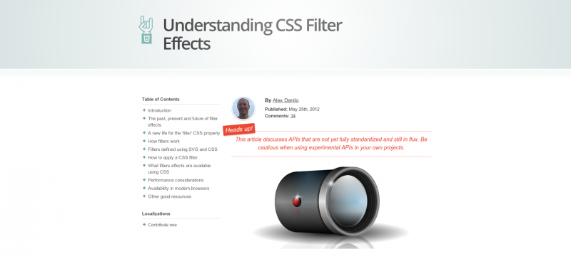 CSS Filter Effects