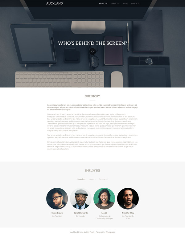 Auckland WordPress Theme by Dominik Martin