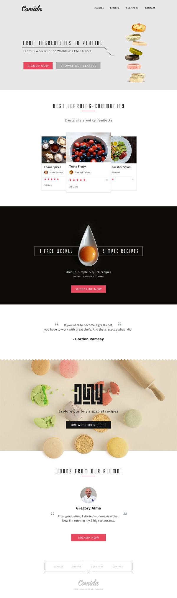 Comida Food Website by Budi Tanrim