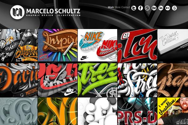 marcelo shultz portfolio website layout