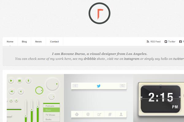 rovane durso portfolio website layout
