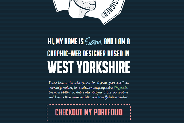 samuel james oxley portfolio website designer