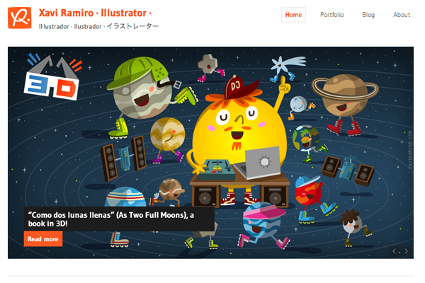 xavi ramiro portfolio website layout