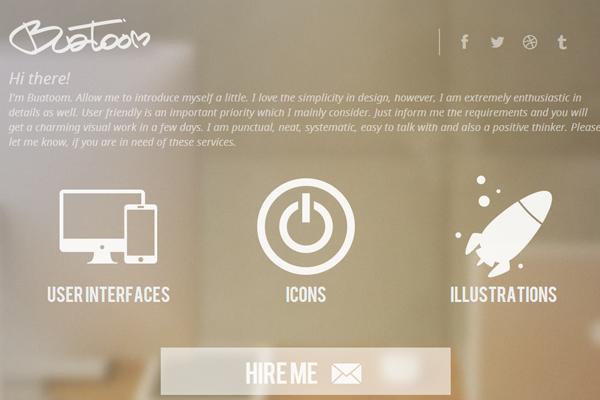 designer illustrator dribbble buatoom website