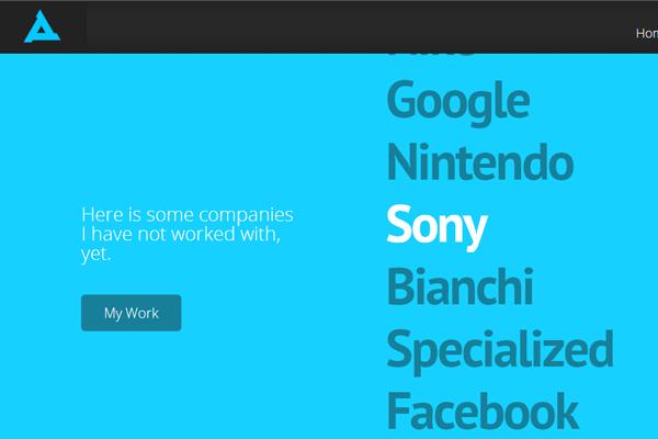 rymsza freelance portfolio website layout