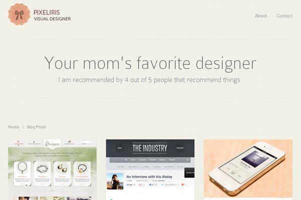 iris portfolio atalay website layout