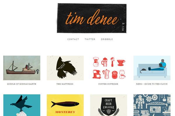 tim denee website layout designer graphics