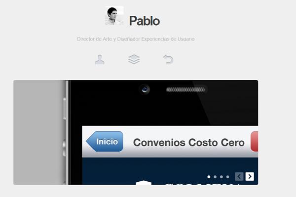 pablo vivanco website layout portfolio
