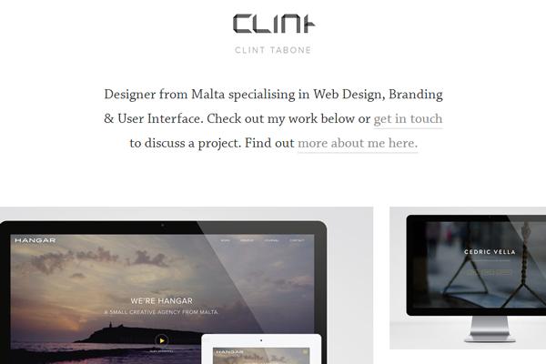 clint tabone website layout designer portfolio