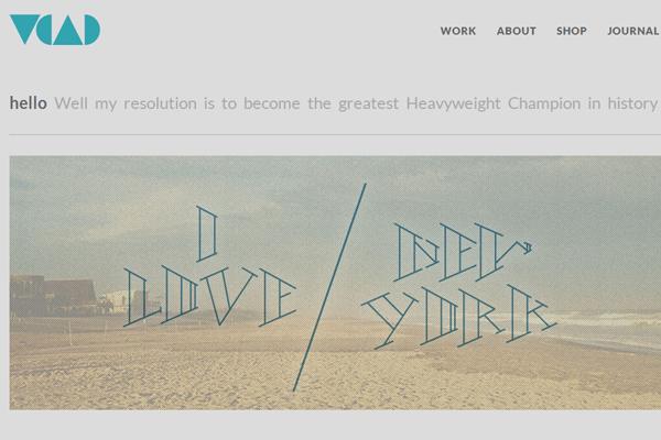 victor coreas portfolio website layout designer