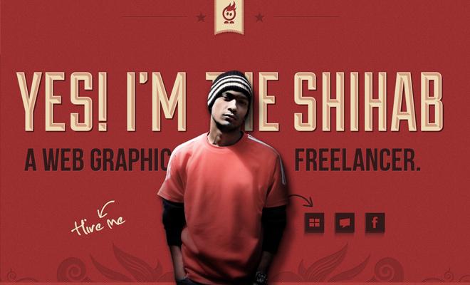 freelance web graphics designer shihab india