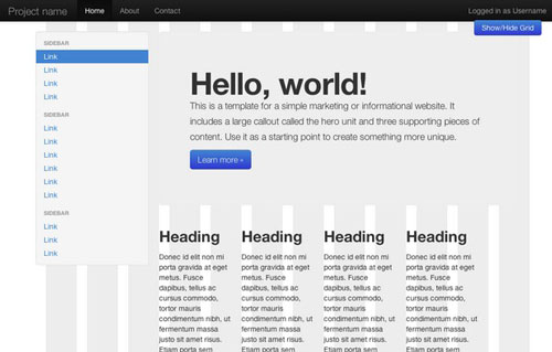 jQDraw Bootstrap Grid